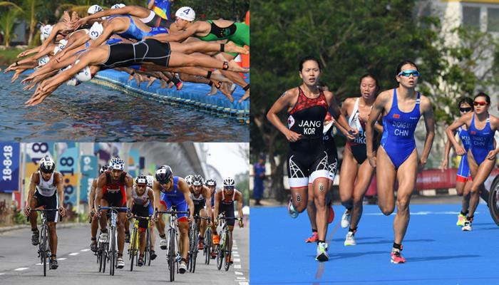 Asian Games 2018 Final Triathlon Mixed Relay