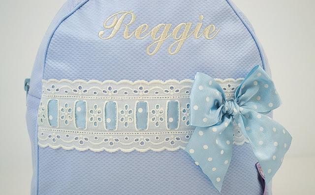 Personalisierte Rucksack für Kinder mit name blue