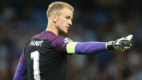 Thủ môn Joe Hart là người canh giữ đền xuất sắc của Man City