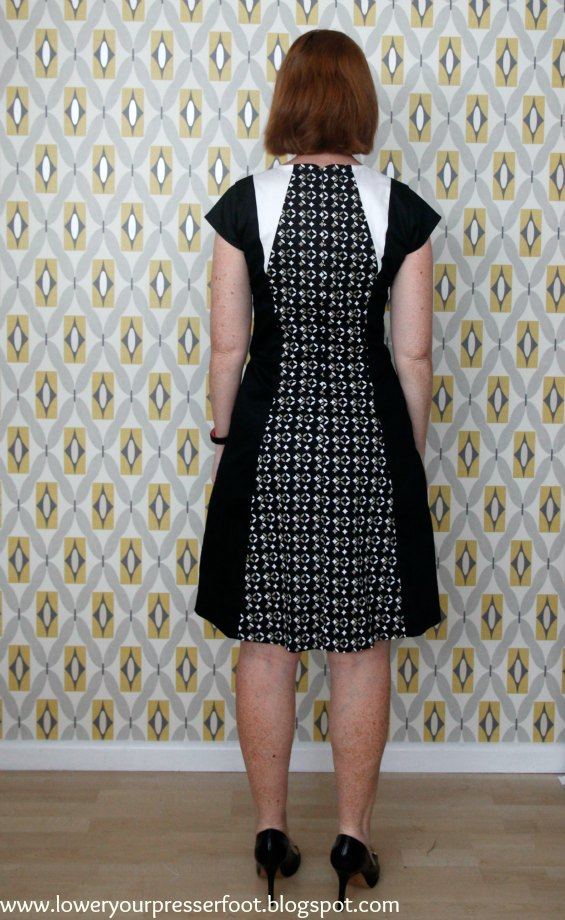Vogue 2783 panelled dress www.loweryourpresserfoot.blogspot.com