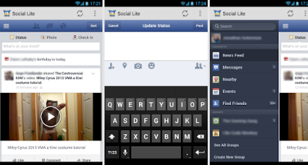 App Social Lite V1.2  Apk for Windows Phone Free Download