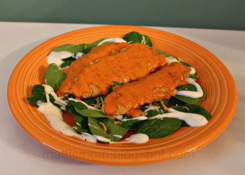 Mama Meal: Buffalo Ranch Chicken Spinach Salad