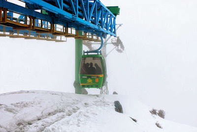 cable car near Changu Lake in Sikkim