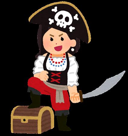 海賊のイラスト(女性)