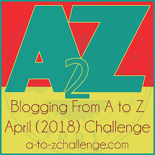 #AtoZchallenge 2018 friendly new badge logo