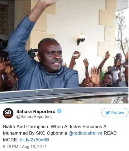 Biafra and Corruption: When a Judas Becomes a Muhammad