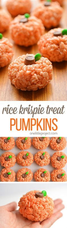 These Rice Krispie Treat pumpkins are ADORABLE! But I need to tell you right out of the gate – if you make them, your hands are going to get messy. Very messy. Before I figured out how to roll them properly I had gooey Rice Krispie treat mixture all over everything. Just picture me standing at the counter, trying to roll a ball, except instead of it turning into a ball, it got stuck on my palms and in between all of my fingers. Grrrr! I hate when that happens!