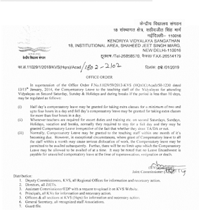 kvs-order-compensatory-leave-to-teaching-staff