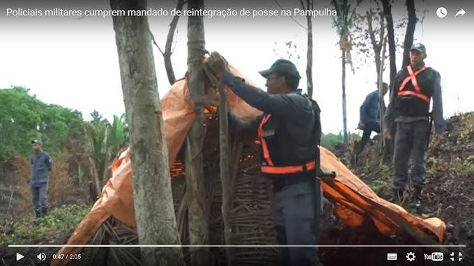 CAXIAS: Policiais militares cumprem mandado de reintegração de posse na Pampulha