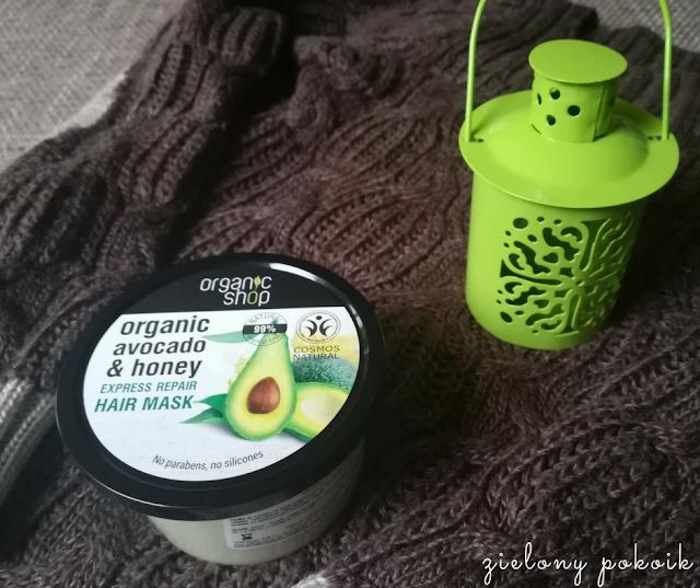 Kosmetycznie: Organic Shop - Maska do włosów Awokado i miód