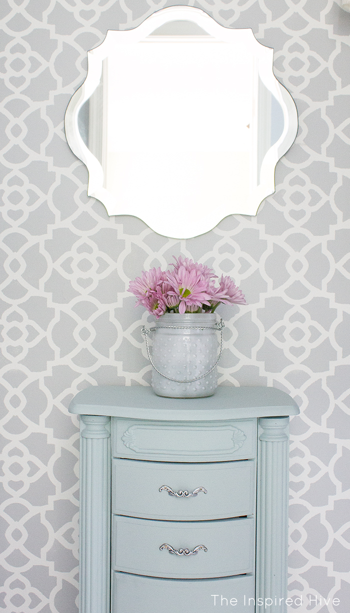 How to update a jewelry storage armoire with chalk paint