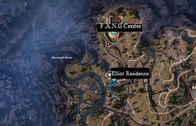Far Cry 5, The Holdouts Prepper Stash, Jacob's Region, F.A.N.G Center, Elliot Residence