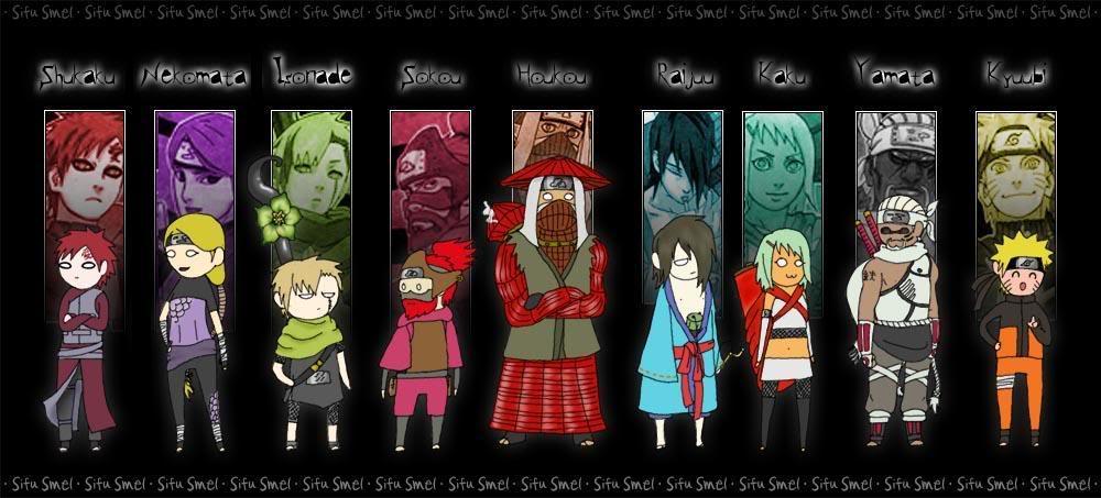 Gambar Naruto Shippuden Wallpaper Bijuu Jinchuriki Gambar Jincuriki Di Rebanas Rebanas