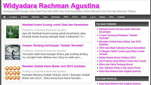Template Blog Widyadara yang Lama