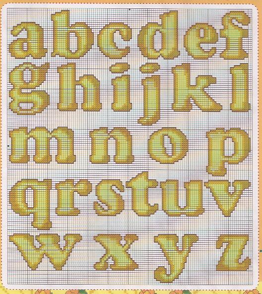 Marilda croche monograma amarelo for Alfabeto a punto croce per neonati