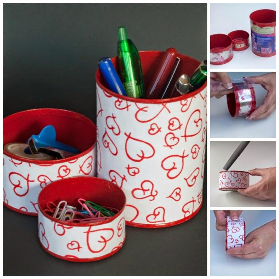Tutorial de manualidades faciles con latas de conserva recicladas