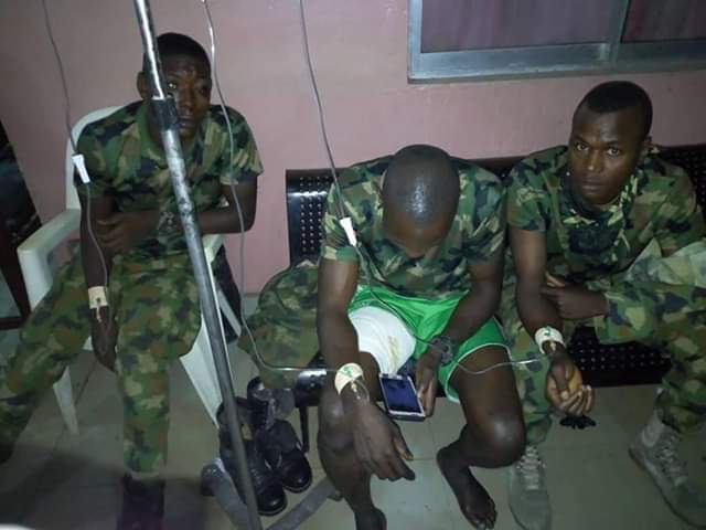 Photos: Nigerian soldiers, civilians involved in serious accident in Umuahia