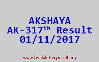 AKSHAYA Lottery AK 317 Results 1-11-2017