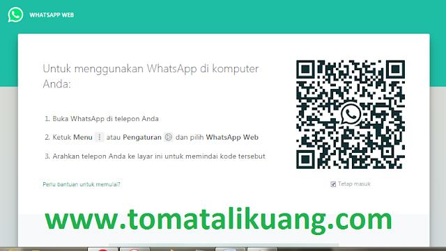 cara memasang dan menggunakan whatsapp wa web di pc komputer laptop, tomatalikuang.com