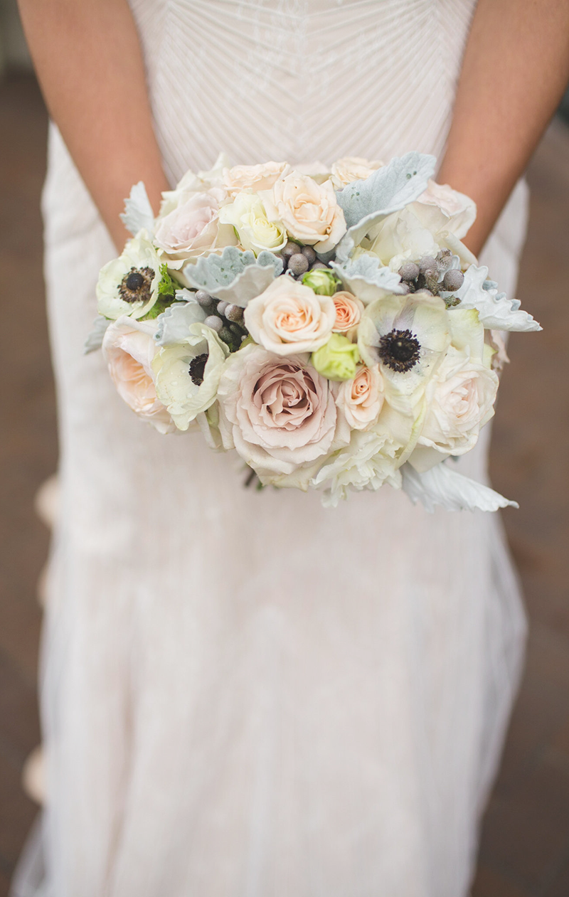 Elegant bridal bouquet via THORN & thistle