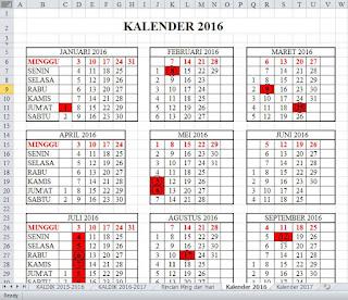 Kalender 2016 Excel