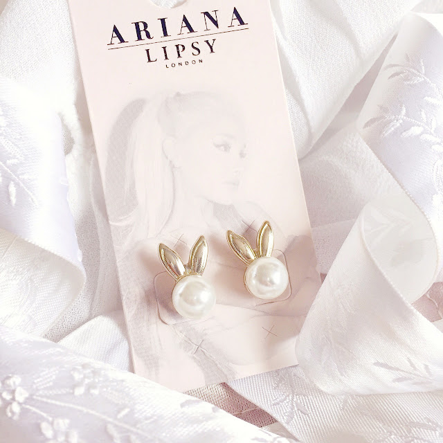 Ariana Grande for Lipsy | Pearl Bunny Earrings