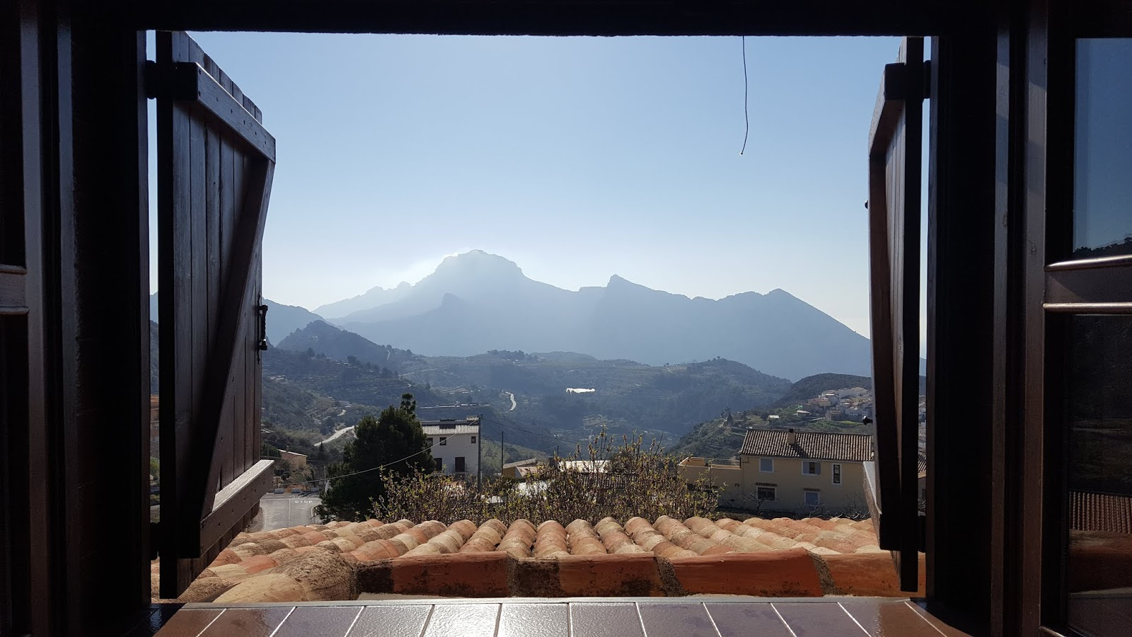 View of Sierra de Bernia from La Panavista, Tárbena, Alicante