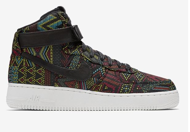 NIke Air Force One Hi lateral tecidos africanos
