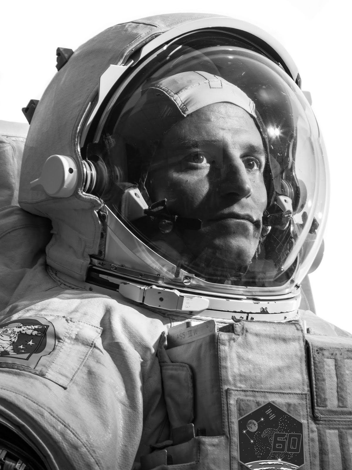 Morgan in a space suit