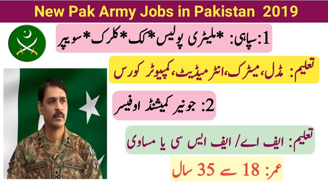 3300+Vacancies New Pak Army Jobs 2019 Online Apply - Online Knowladge