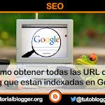 Como obtener las URL indexadas en google