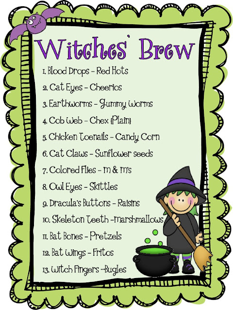What The Teacher Wants Halloween Party Time And A Witches Brew Mini Unit Freebie