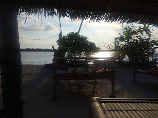 Sunset view from my hut. Don't hate me.