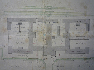Excerpt from the construction plan 1867 ©Pfalzklinikum Klingenmünster