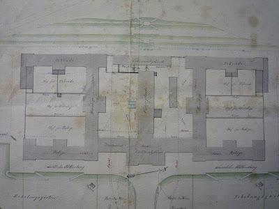 Excerpt from the construction plan 1867 ©Pfalzklinikum Klingenmünster