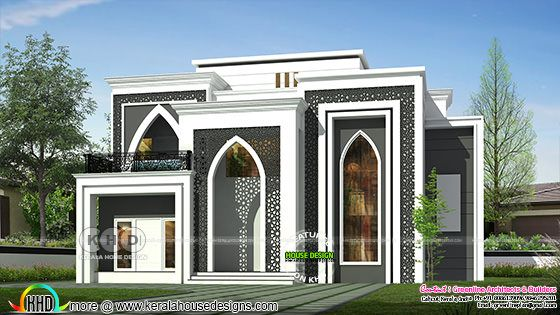 Colonial model house architecture with Arabian touch