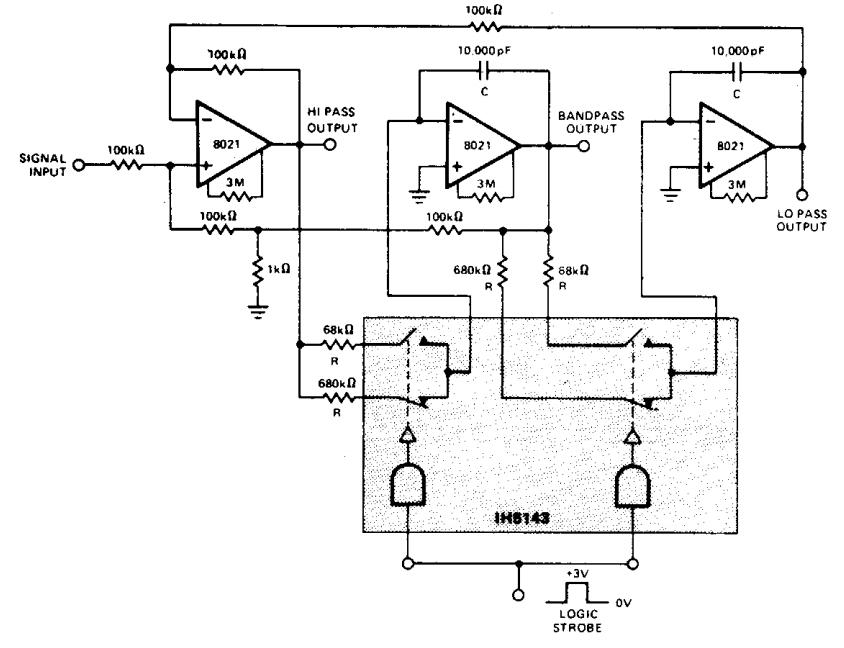 narrow band audio bandpass filter