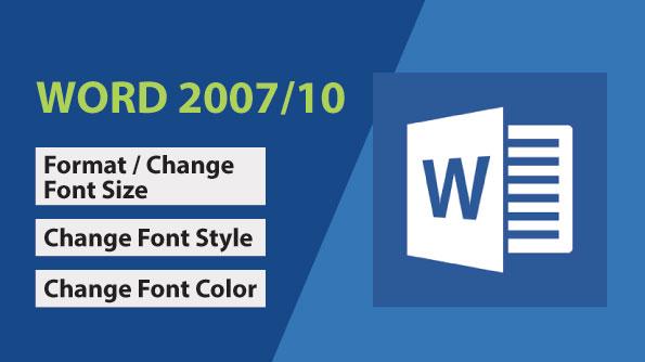 Image for Change Font Size, Font Style & Font Color
