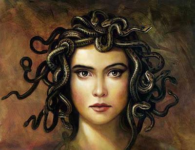 Pintura de medusa - Monstruo mitologico
