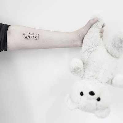 small teddy bear tattoo