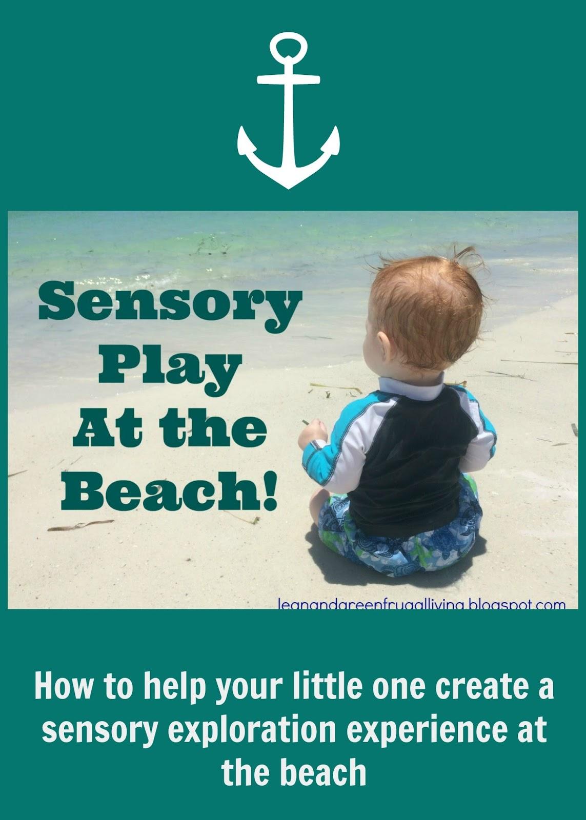 Sensory Play at the Beach