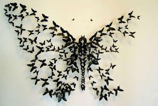 Composición de mariposas que crean un efecto mariposa