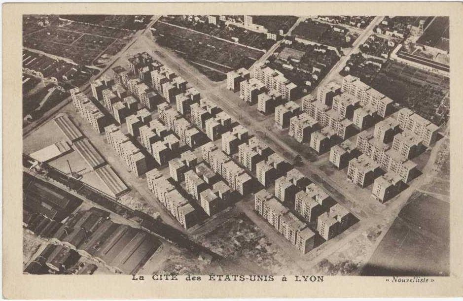 La cité des Etats-Unis, vue aérienne, vers 1930