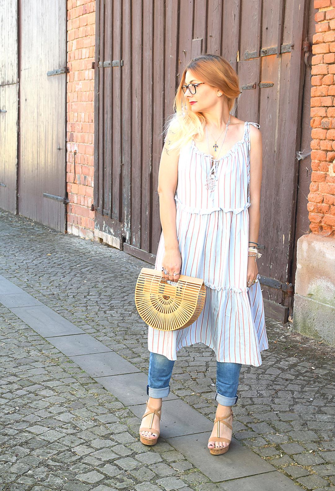 Sommerkleid über Hose tragen, Modeblog