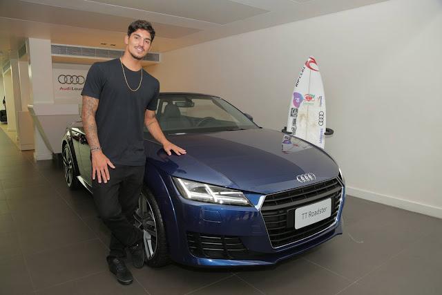 Gabriel Medina troca patrocínio da Mitsubishi pela Audi
