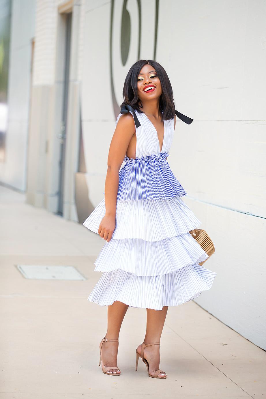 Multi tiered maxi dress, www.jadore-fashion.com
