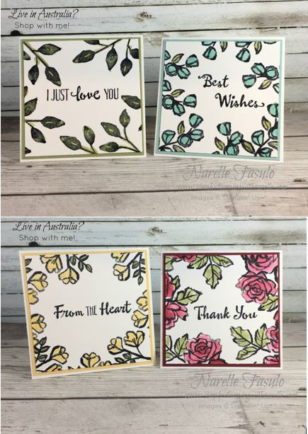 Petal Palette stamp set - perfect for pretty little cards like these - get yours here - http://bit.ly/2BEfr85