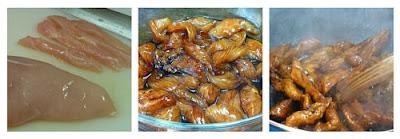 Pollo teriyaki, elaboración