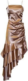 Champagne cute prom dress