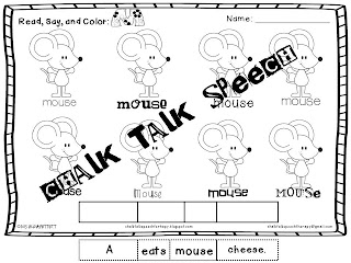 Chalk Talk: Articulation Coloring Sheets, Great for